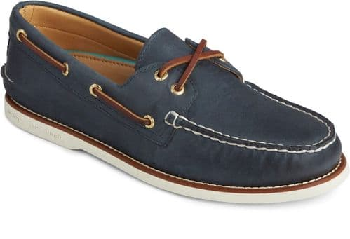 Sperry Gold Cup Authentic Original Lace Mens Shoes Navy